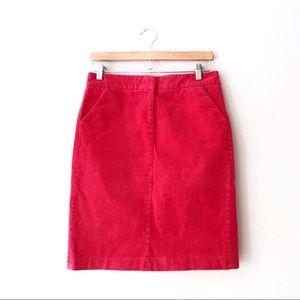 J. Crew Persimmon Vintage Stretch Cord Skirt 0